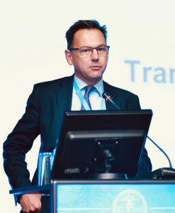 Mark Coleman at podium speaking