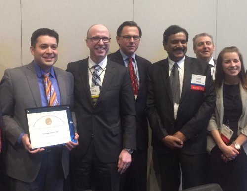 LAPCO surgeons posing smiling with certification.